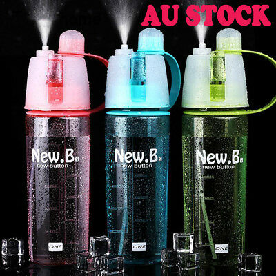 Sport Yoga Cycling Mist Spray Water Gym Beach Bottle Leak-proof Drinking Cup HOT