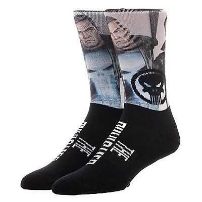 Marvel The Punisher Sublimated 1 Pair Of Crew Socks NEW IN STOCK