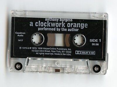 A Clockwork Orange read by Anthony Burgess, cassette