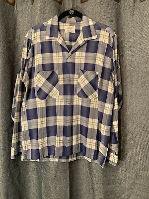 Vintage 1950's/ 1960's  Towncraft Loop Collar Men's Shirt size M Made in USA