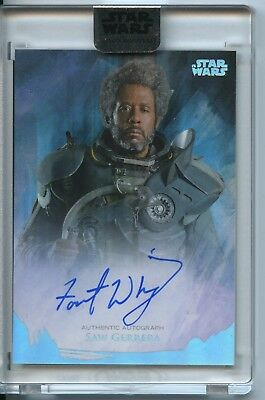 2018 Topps STAR WARS Stellar Signatures FOREST WHITAKER as SAW GERRERA AUTO /40