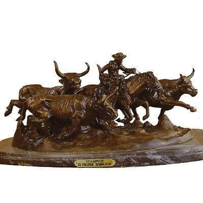 Stampede by Frederic Remington Bronze Mini