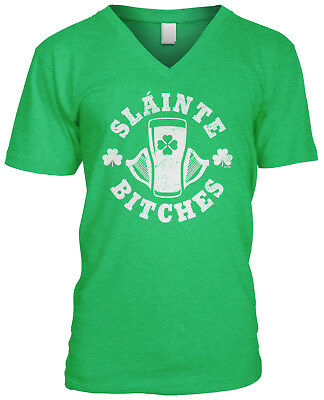 Slainte Bitches St Patricks Day Party Festival Drinking Cheers Saying Womens Tee