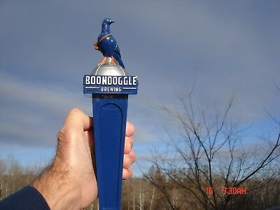 New Never Used Large Beer Tap Handle Boondoggle Brewing Co. Hartford Ct Pigeon