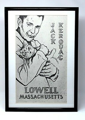 Vintage Jack Kerouac Framed Print by Vassilios Giavis Purchased in Lowell Mass