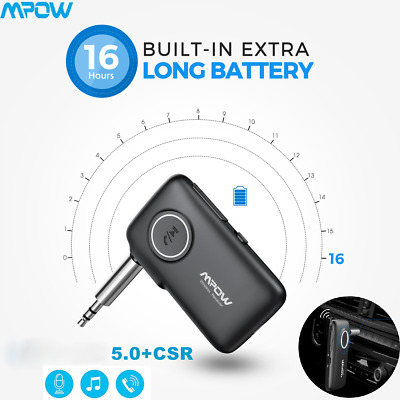 Mpow Wireless Bluetooth 5.0 3.5mm AUX Audio Stereo Music Car Receiver Adapter