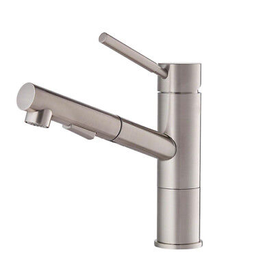 KRAUS Geo Axis 1-Handle Pull-Out Sprayer Kitchen Faucet Brass Housing Deck Mount