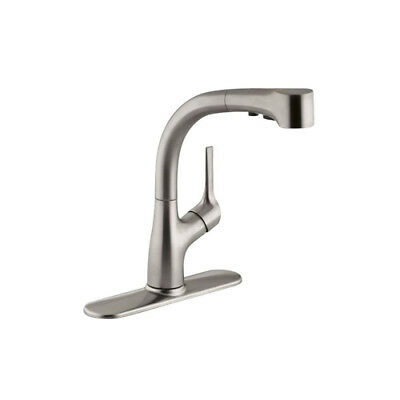 KOHLER Elate 1-Handle Pull-Out Sprayer Kitchen Sink Faucet Deck Mount Stainless