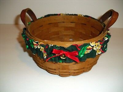 LONGABERGER 1993 Button BASKET, Christmas Garter
