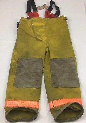 Fire-Dex Firefighter Turnout Pants Mens 36 Yellow With Liner