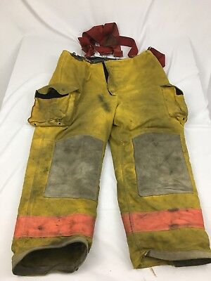 Janesville Firefighter Turnout Pants Mens 42R Yellow With Liner
