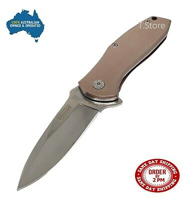 Pocket Folding Opening Knife Camping Hunting Fishing Flipper Survival EDC Steel