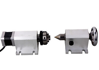 CNC Router Rotational Rotary Axis A-Axis, L 4th-Axis+Tailstock Engraving Machine