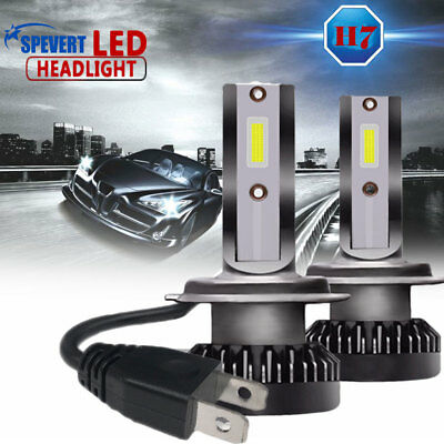 2pcs G2 110W COB Chip H7 LED Headlight 6000K White Replace Bulb 11000LM Canbus