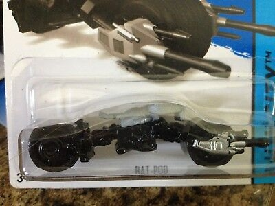 HOT WHEELS 2014-064 HW CITY BATMAN 75th ANNIVERSARY BAT-POD BLACK