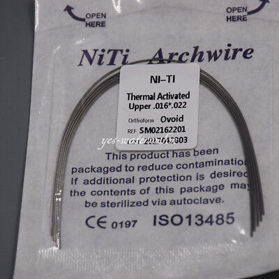 Dental Ortho Heat Thermal Activated Niti Arch Wire Rectangular Ovoid 16*22 Upper