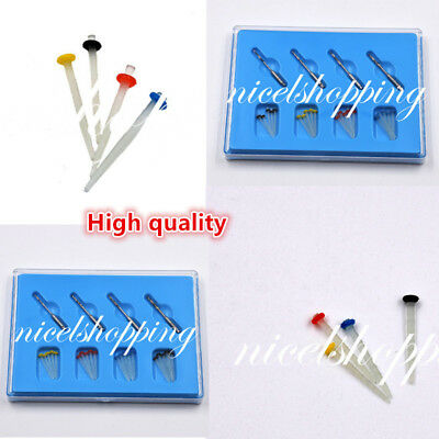 20 Pcs Dental Resin Fiber Post + 4 Drills Screw/Straight Glass Endo Thread