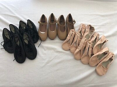 DANCE SHOES 10 Pairs Mixed Styles Colours & Sizes Jazz Tap Ballet GREAT VALUE 3