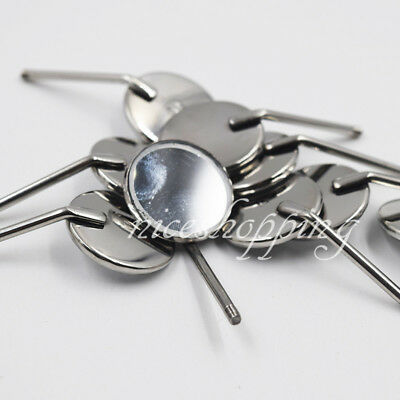 Dental 4# Stainless Steel Orthodontic Odontoscope Mouth Mirrors Reflector 50 Pcs