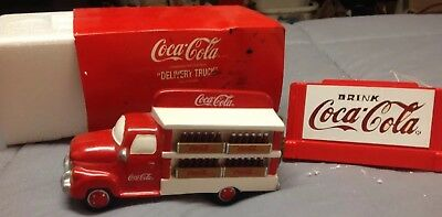 Department 56 CocaCola Delivery Truck & CocaCola Neon Sign Original Snow Village