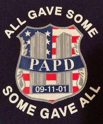 PAPD Port Authority Police Department New York City WTC 9/11 Sz XL NEW NYPD