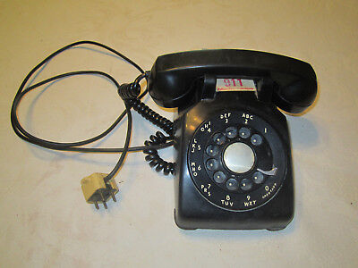 Vintage Black Rotary Telephone Bell System by Western Electric Dial Phone