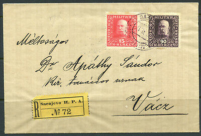 A07013 -- Bosnia #91 and #99 on registered cover