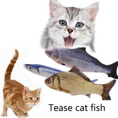 Cute Pet Cat Play Fish Shape Mint Catnip Chewing Interactive Scratch Toys Gifts