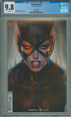 Catwoman #2 CGC 9.8 Variant B Artgerm DC Comics 2018 Combined Shipping Available