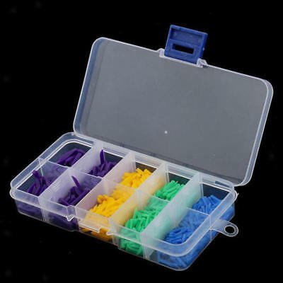 Lot 800PCS Disposable Wedges Plastic Hole Dental All Sizes Box Tool Kit Assorted