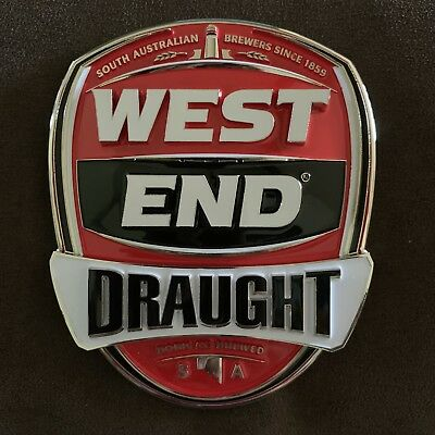 West End Draught Beer Tap Badge, Top, Decal