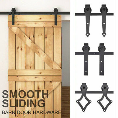 1.8M 2M Sliding Barn Door Hardware Wood Door Track Set Smooth Sliding Track Kit