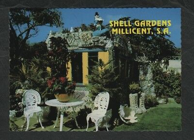 e3016)    1980's POSTCARD OF SHELL GARDENS, MILLICENT IN SOUTH AUSTRALIA