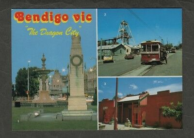 e2613)            MULTI  VIEW  POSTCARD  of  BENDIGO IN VICTORIA AUSTRALIA