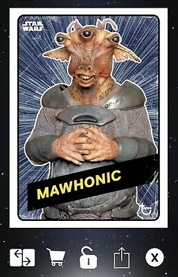 Topps Star Wars Card Trader Mawhonic Phantom Menace Challengers Hyperspace