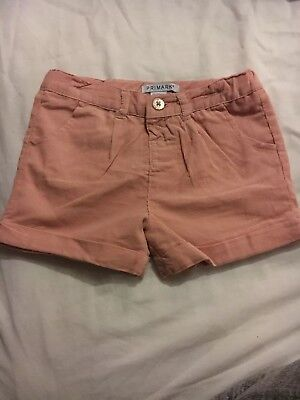 Primark Baby Little Girl Pink Fabric Shorts 12-18months Brand New