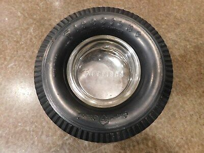 1950s FIRESTONE Deluxe Champion Gum Dipped TIRE Advertising Promo ASHTRAY