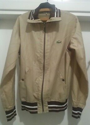 Lacoste S.A.Gillier Men's Jacket beige brown twin tipped Size Vintage 1970s