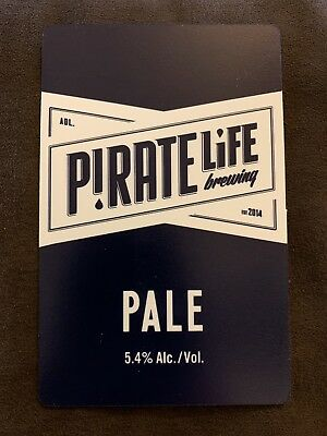 Pirate Life Pale Ale Beer Tap Badge, Top, Decal - Plastic