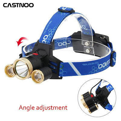 60000LM  T6 3X LED Lampe frontale à vélo Rechargeable Headlight AT