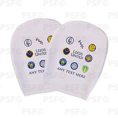 Leeds United FC Official Custom Retro Badges White Car Head Rest Cover LHR001