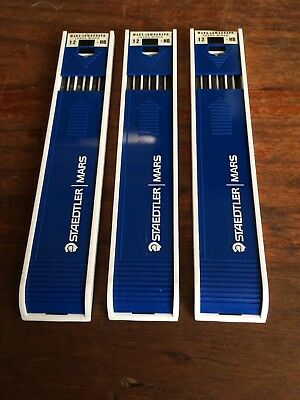 Staedtler Mars 36 Hb Drawing Leads. 3 Sets. Made In Germany