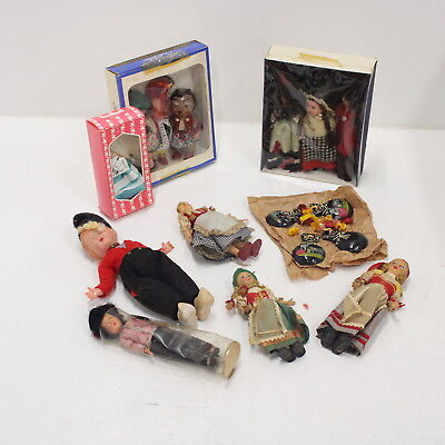 Bulk Lot Vintage Collectors Souvenir Plastic Ceramic Dolls Dutch German #454