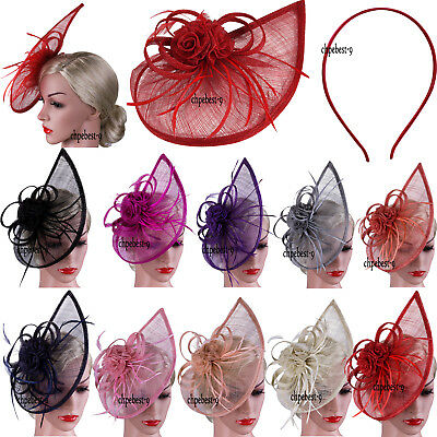 Large Hair Headband And Clip Hat Fascinator Weddings Ladies Day Race Royal Ascot
