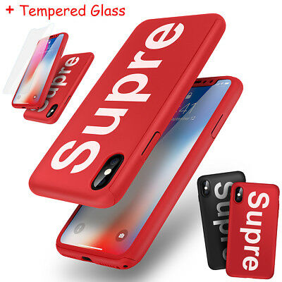 Supre Hülle für iPhone XS Max XR X Slim 360 Grad Handy Full Cover + Schutz Glas