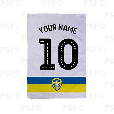 Leeds United FC Official Personalised White Shirt Name Number Tea Towel LTT007