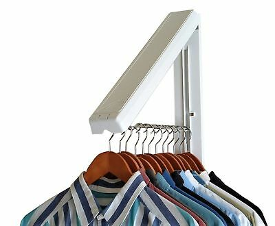 Clothes Hanger Rod Wall Mount E Saver Clothing Organizer Laundry Room