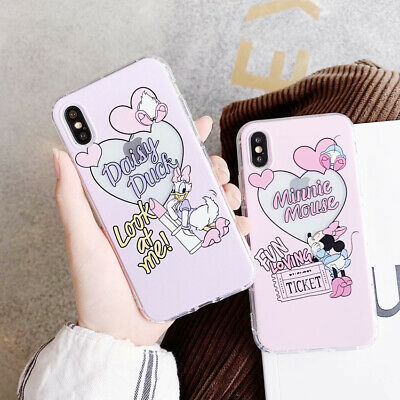 Cute Disney Minnie Daisy Pink Case Cover For iphone X XR XS MAX 6/6s 7 8 Plus