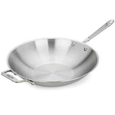 NEW All-Clad D5 5-Ply S/S Open Stirfry 36cm
