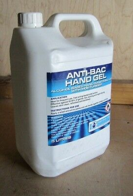 5 Litres of SafeChem Antibacterial Hand Gel Cleaning & Moisturising - Free p&p